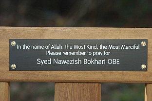 Commemorative Bench Unveiled